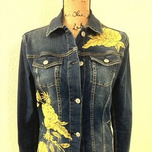LulaRoe Jaxon denim jacket, Small NWOT